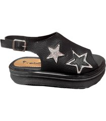 sandalia negra isabella 5236 estrellas