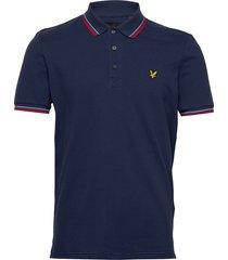 tipped polo shirt polos short-sleeved blå lyle & scott