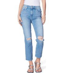 women's paige sarah high waist ripped skinny jeans
