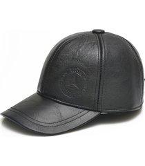 uomo vera pelle berretto da baseball in pelle bovina con orecchio alette cappelli invernali anatra calda per il vecchio