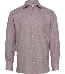 classic fit business textured twill shirt overhemd business rood eton