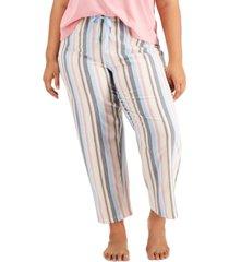 jenni plus size printed pajama pants, created for macy's