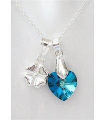 colgante trebol cristal corazón bermuda blue moskatel