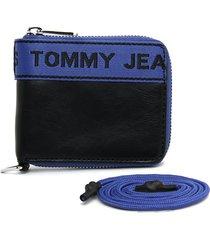 billetera negro-rojo-azul tommy hilfiger