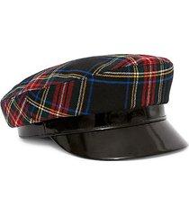 cotton plaid majorette hat
