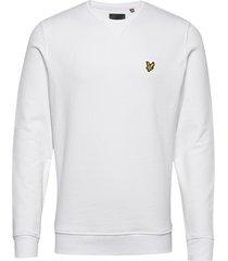 crew neck sweatshirt sweat-shirt trui wit lyle & scott