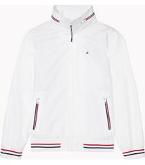 tommy hilfiger men's adaptive solid yachting jacket bright white - m