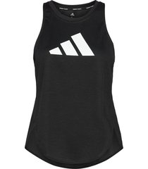 badge of sport tank top w t-shirts & tops sleeveless svart adidas performance