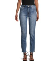 articles of society women's rene high-rise straight jeans - blue - size 25 (2)