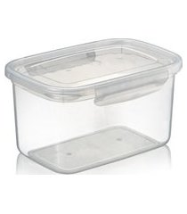 pote plástico microondas freezer com travas laterais 4,3l