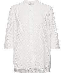 christin shirt kortärmad skjorta vit modström