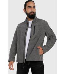 chaqueta gris-negro calvin klein