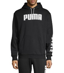 logo graphic cotton-blend hoodie
