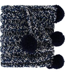 0711 bradford pompom detailed scarf - blue