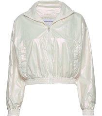 iridescent windbreak sommarjacka tunn jacka vit calvin klein jeans