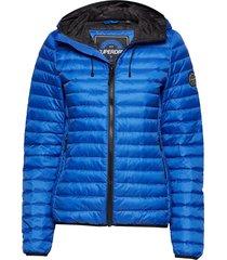 core down hooded jacket gevoerd jack blauw superdry