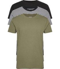 favorite thor 3 pack t-shirts short-sleeved grön mads nørgaard