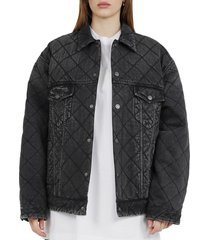 balenciaga black quilted jacket