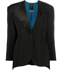 jean paul gaultier pre-owned 1990s side-cape blazer jacket - black