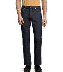 clean straight leg jeans