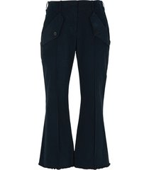 capri flared trousers