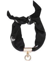colar feminino naval scarf garca - preto