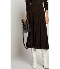 proenza schouler woodgrain jacquard knit skirt dark brown/black xs