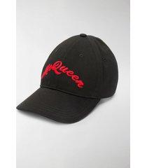 alexander mcqueen embroidered signature baseball cap