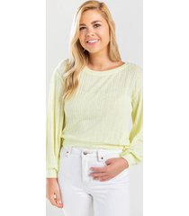 kamm pullover top - pale yellow