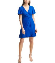 jessica howard jersey faux-wrap dress