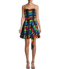 webber printed godet cotton dress