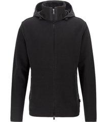 boss men's shepherd 18 hooded zip-through sweatshirt