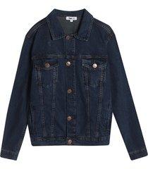 chaqueta jean clasica color azul, tallal