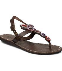 bayle flat shoes summer shoes flip flops brun laidback london