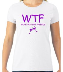 wtf- wine tasting friends women's tee
