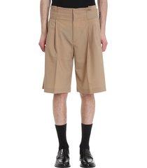cmmn swdn shorts in beige wool