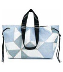 isabel marant wardy mosaic tote bag - azul
