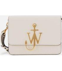 jw anderson women's anchor braided logo bag - marble