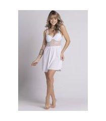 camisola feminina serra e mar modas com bojo em tecido canelado branco