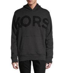 michael kors men's logo cotton hoodie - black - size xl