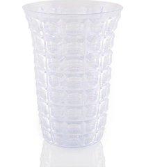 vaso decorado bezavel acrílico transparente