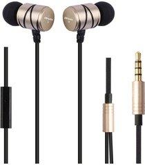 audífonos bluetooth, awei q5i auriculares estéreo de metal de juego deportivo auriculares (oro)
