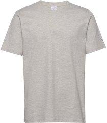 arkk classic tee snow melange t-shirts short-sleeved grå arkk copenhagen
