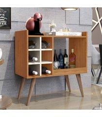 aparador bar retrô baden - nature / off white - rpm móveis