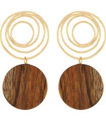 'the zelda' pine wood earrings