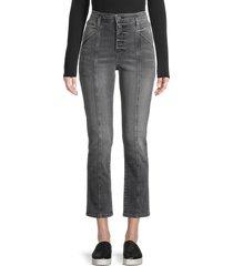 jonathan simkhai women's marley slim ankle jeans - laguna light - size 27 (4)
