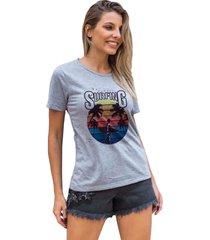 camiseta basica my t-shirt hawaii surfing mescla