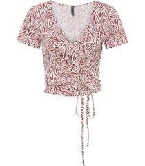 maglia a portafoglio in lenzing™ ecovero™ (rosso) - rainbow
