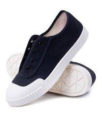 sapatênis feminino sneaker smash canvas tendência - preto/branco