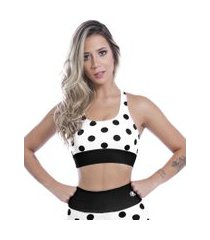top nadador kaisan sublimado black spotted